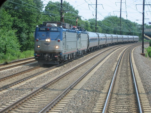 Amtrak train in Jersey