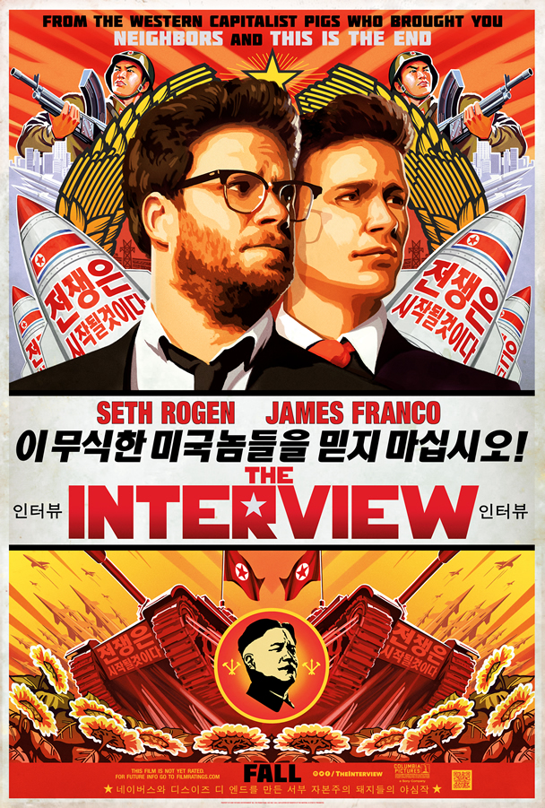 The Interview Poster, with Korean translated into English